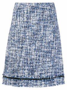 Giambattista Valli tweed A-line skirt - Blue