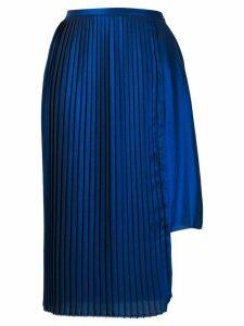 Each X Other asymmetric pleated skirt - Blue