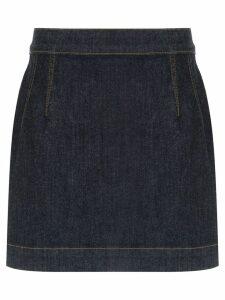 À La Garçonne high waisted denim skirt - Blue