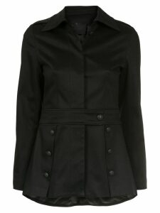 Andrea Bogosian button detail coat - Black