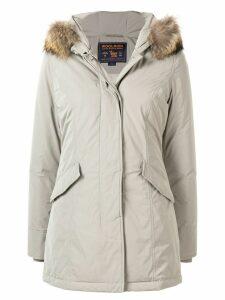 Woolrich fur trimmed parka coat - Grey