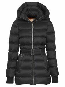 Burberry Detachable Hood Down-filled Puffer Coat - Black