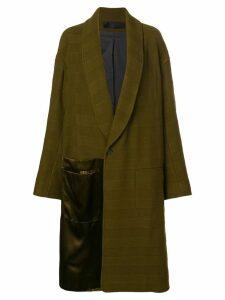 Haider Ackermann contrast panel coat - Green