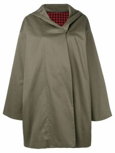 Daniela Gregis hooded trench coat - Green