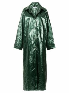 Walk Of Shame glossy long raincoat - Green