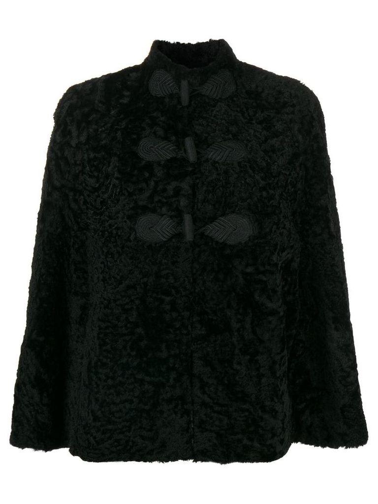 Saint Laurent shearling cape - Black