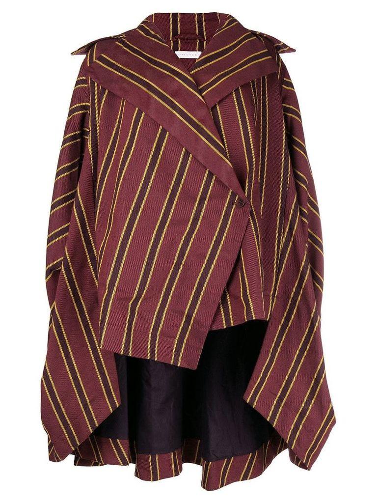 Palmer / Harding sleeveless striped jacket - Red