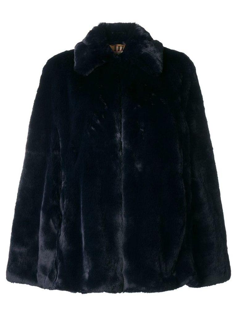 Burberry faux fur cape - Blue