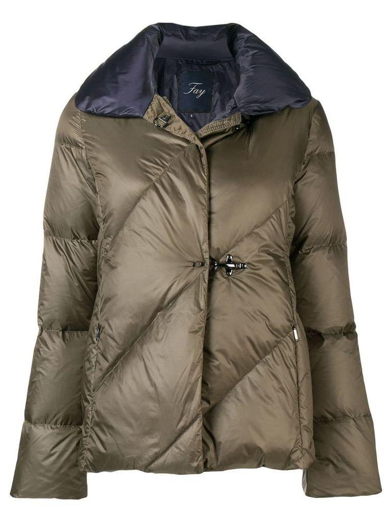 Fay zipped padded jacket - Green