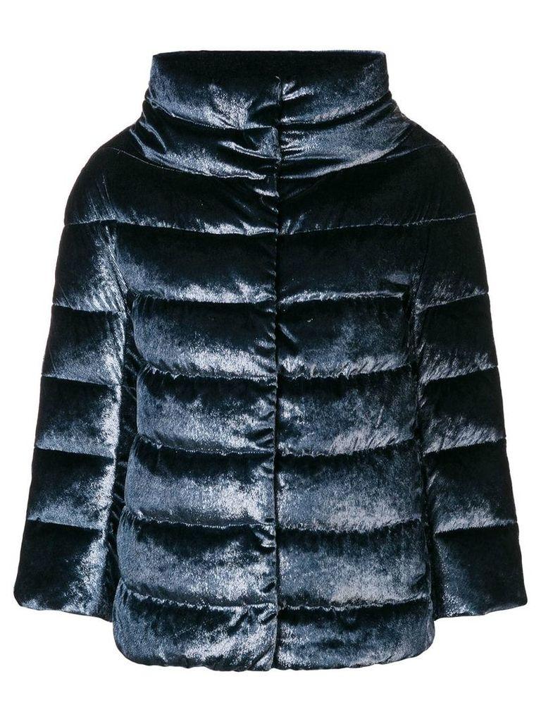 Herno velvet puffer jacket - Blue