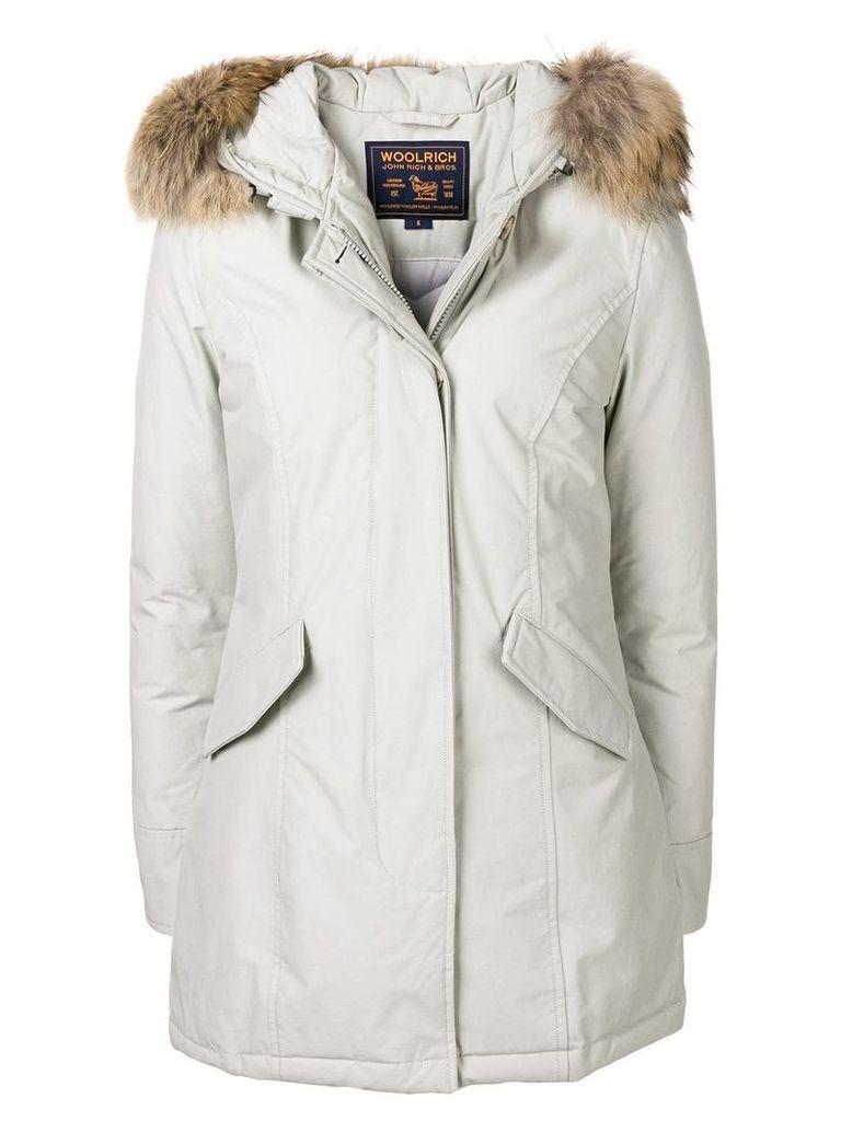 Woolrich long sleeved puffer jacket - Grey
