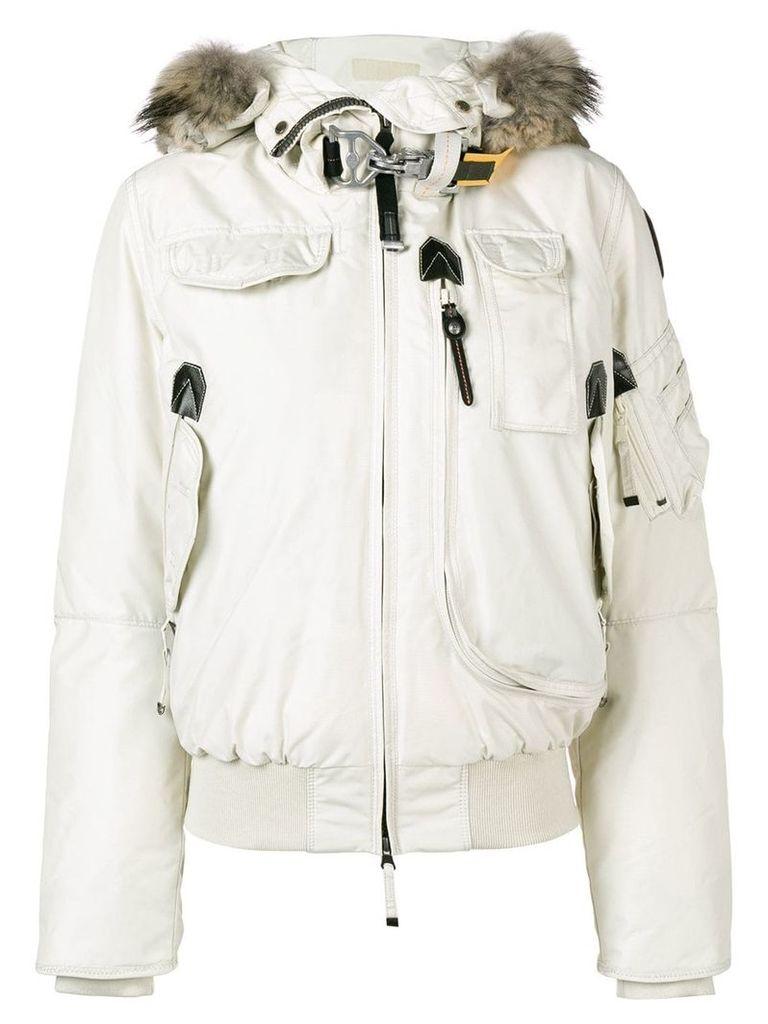 Parajumpers fur trimmed jacket - White