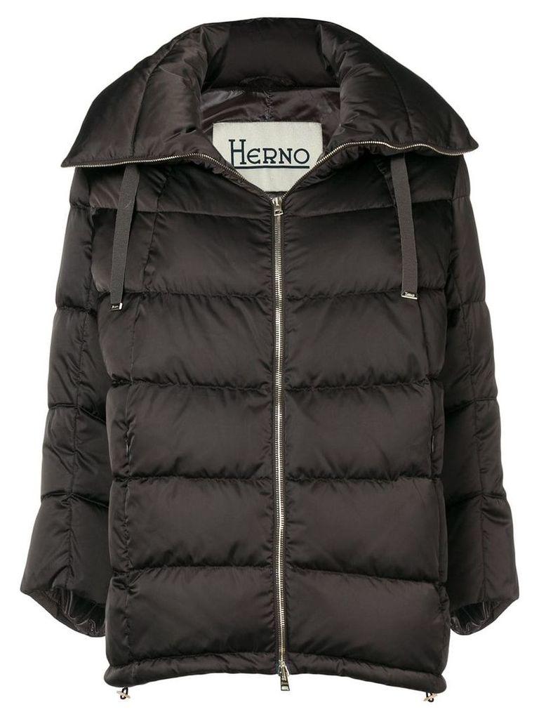 Herno cropped sleeve jacket - Brown