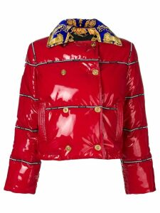 Versace cropped puffer jacket - Red