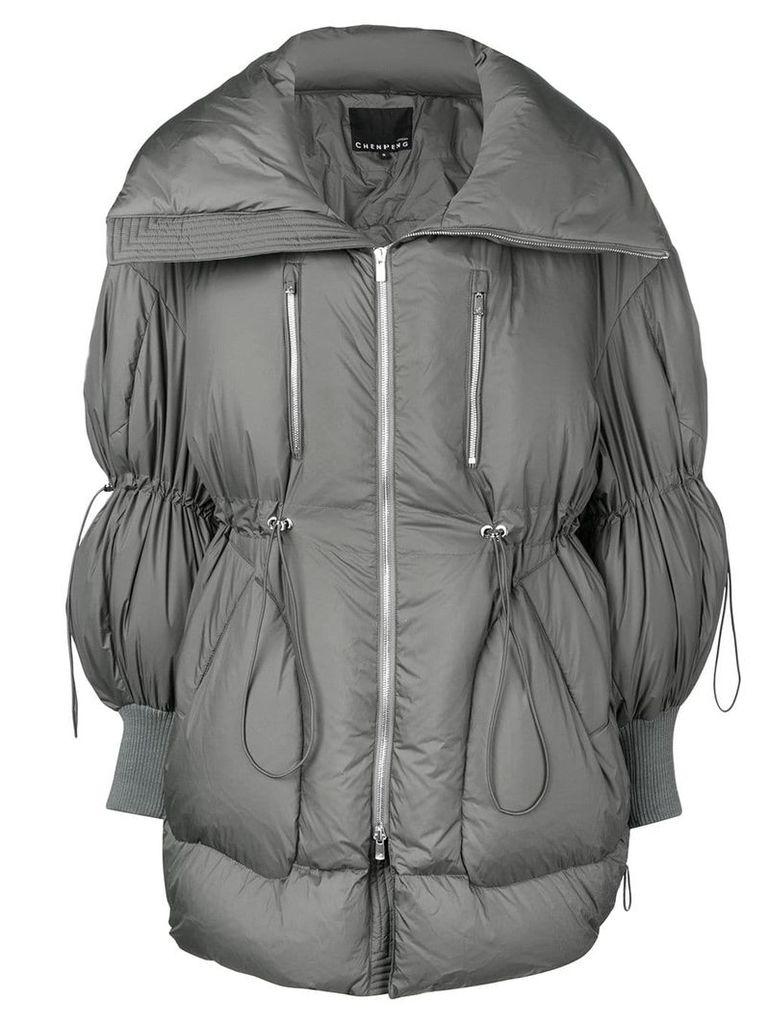 Chen Peng oversized puffer jacket - Green