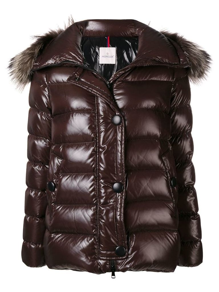 Moncler zipped padded jacket - Brown