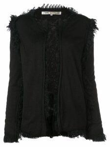 Comme Des Garçons frayed details cardigan - Black