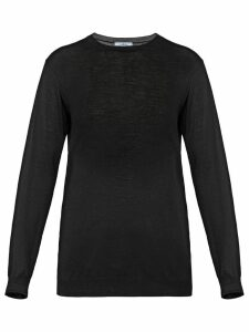 Prada round neck sweater - Black