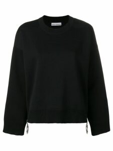 Paco Rabanne side-zip flared sweater - Black