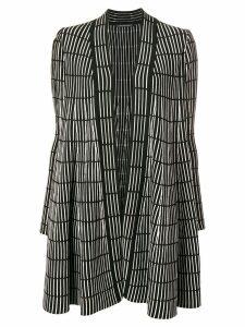 Antonino Valenti striped print cardigan-coat - Black