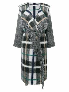 Stella McCartney checked belted cardigan - Grey