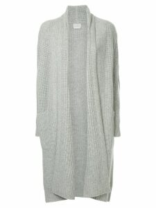 Le Kasha ribbed open front cardigan - Grey