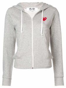 Comme Des Garçons Play drawstring zip hoodie - Grey