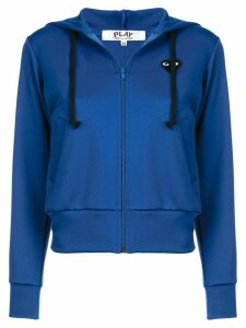 Comme Des Garçons Play drawstring zip hoodie - Blue