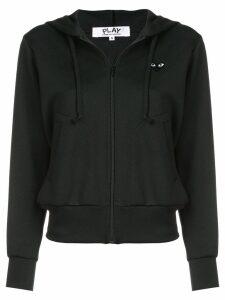 Comme Des Garçons Play drawstring zip hoodie - Black