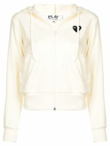 Comme Des Garçons Play drawstring hoodie - Yellow