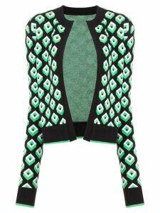 Diane von Furstenberg geometric open front cardigan - Green