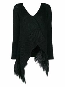 Simone Rocha patchwork knitted cardigan - Black
