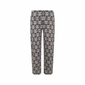 CocooVe - Finlay Straight Leg Baroque Print Cropped Trouser