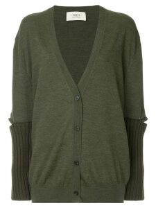 Ports 1961 slit sleeve knitted cardigan - Green
