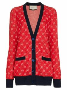Gucci GG print cardigan - 6527 Red