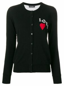 Dolce & Gabbana Love emboridered cardigan - Black