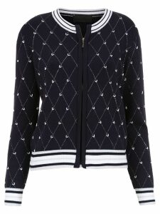 Andrea Bogosian embroidered cardigan - Blue