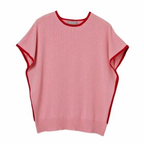 Cove - Eva Cashmere Jumper Pink & Red