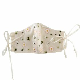 At Last. - Cashmere and Wool Star Jumper Navy With Grey Star