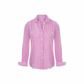 At Last. - Karen Silk Velvet Shirt Pale Pink