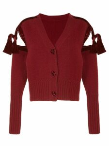 Onefifteen V-neck cardigan - Red