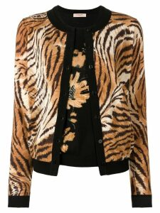 Twin-Set tiger cardigan set - Neutrals