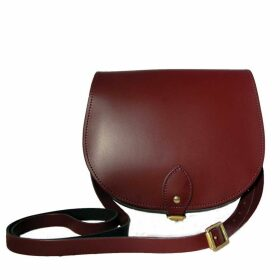 N'Damus London - Oxblood Leather Saddle Bag With Back Pocket