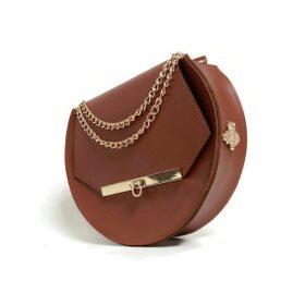 Angela Valentine Handbags - Loel Military Bee Circle Bag In Chestnut