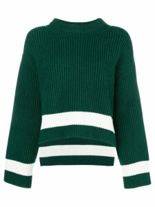 Alexander McQueen ribbed knit jumper - Green