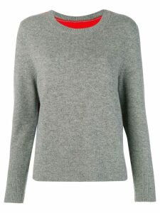 Chinti & Parker contrast back panel sweater - Grey