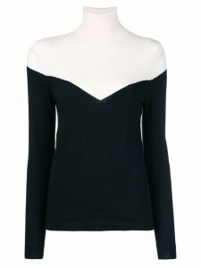 Cashmere In Love color block jumper - Black