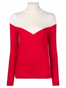 Cashmere In Love two-tone roll neck jumper - Red