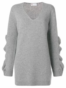 RedValentino ruffled appliqué jumper - Grey