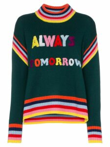 Mira Mikati 'Always Tomorrow' embroidered chunky wool sweater - Green